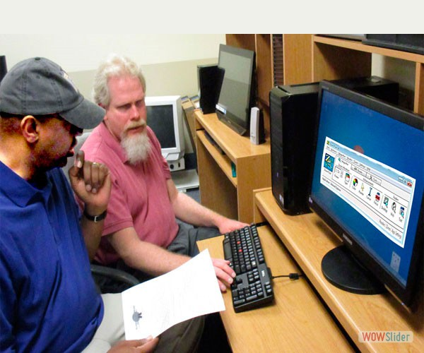 An assistive technology instructor is teaching Zoom Text to a blind student
