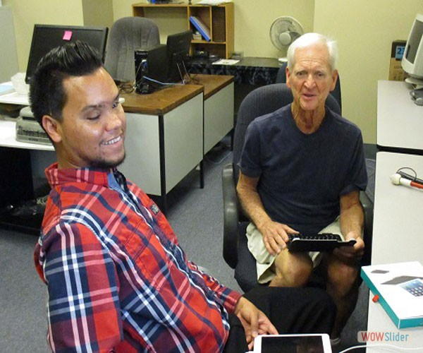 Richard is learning assistive technology at BSS.